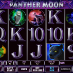 Playing field of Panther Moon slot