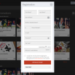 Page of account registration
