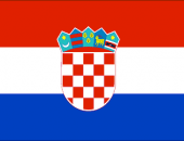 The flag of the country where speak in the Croatian language