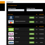 The deposit methods on this site