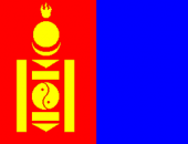 The flag of the Mongolia country