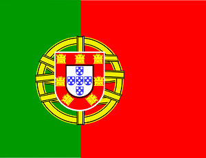 The flag of the Portugal country