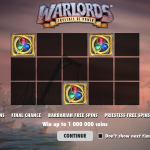 Warlords slot introductory page