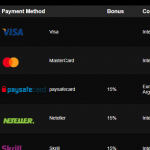 Payment options in this gambling establishment