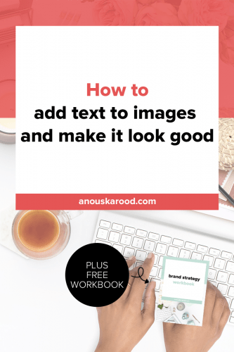 To promote your blog on social media, you need to have text on images so people know what it's about, and your images need to look gorgeous so people actually click to read your content. Click through to learn how to add text to images in a way that looks good.