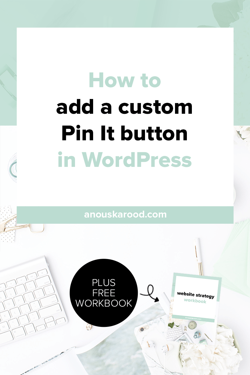 Make it easy for your visitors to promote your site: click through to learn how to add a custom Pin It button in WordPress.