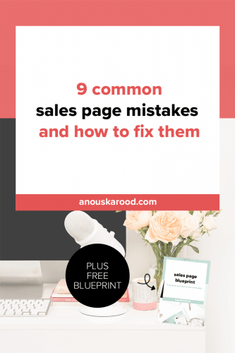 9 common sales page mistakes and how to fix them