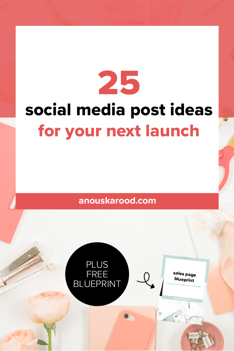 25 social media post ideas for your next launch